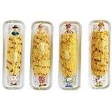 Harold Import Glass Corn Dish, 8.5 Inches, Set of 4