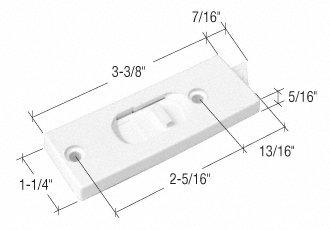 """White Tilt Window Latch; 2-5/16"""" Screw Holes - Package"""
