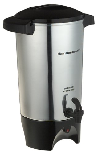 Hamilton Beach 40515 42-Cup Coffee Urn, Silver (Hot Chocolate Coffee Maker compare prices)
