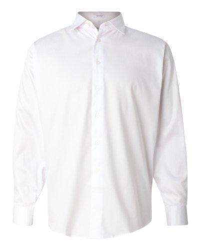 Calvin Klein Mens Cotton Stretch Dress Shirt. 13Ck010 - Xx-Large - White