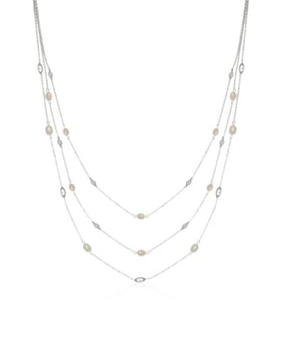 CZ by Kenneth Jay Lane Triple Marquis Stations Necklace