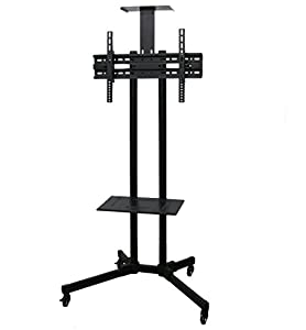 "TV Cart for LCD LED Plasma Flat Panels Stand with Wheels Mobile fits 32"" to 55"" T.V. from VIVO"