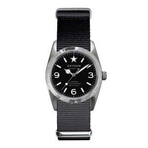Oxygen - EX-S-WAS-34-BL - Sport - Montre Femme - Quartz Analogique - Cadran Noir - Bracelet Nylon Noir