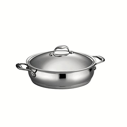 Tramontina 80102/014DS Gourmet Domus Tri-Ply Base Braiser, 5-Quart, 18/10 Stainless Steel