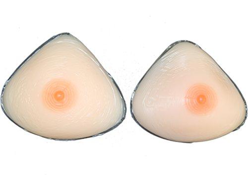 Triangle Full Silicone Breast Form Mastetomy Cross Dress Size 9(3Xl)36E 38Dd 40D