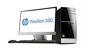 "HP Pavilion  500-375nfm Ordinateur de bureau + écran 23"" Noir (Intel Core i5, 8 Go de RAM, disque dur 2 To, NVIDIA 1 Go, Windows 8.1)"