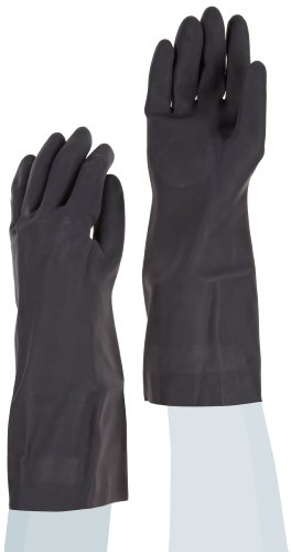 Galaxy GLX 543M 30-33-Mil Thick 15-Inch Medium Black Color Neoprene Flock-Lined Gloves (Case of 12 pairs)