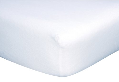 Trend Lab Flannel Crib Sheet, White