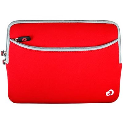 APPLE IPAD Tablet 16GB 32GB 64GB WiFi WiFi 3G Soft RED NEOPRENE SLEEVE CASE Cover Pouch Carrying Bag