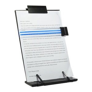 CoBean Black metal desktop document book holder