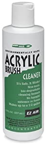 EZ Air Acrylic Brush Cleaner Bottle, 8-Ounce