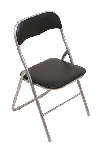 set 6x klappstuhl mit metallrahmen und kunstlederbezug. Black Bedroom Furniture Sets. Home Design Ideas