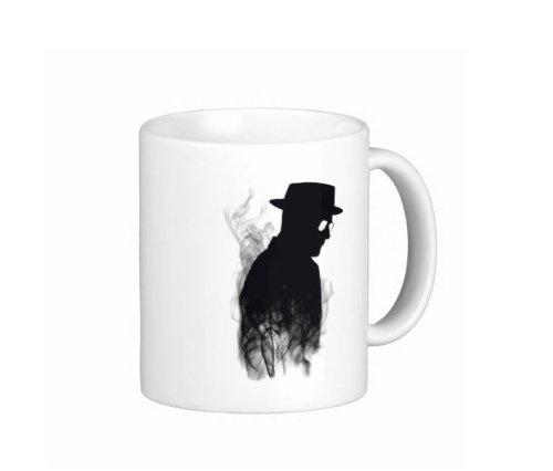 Pair Of Heisenberg Smoke Breaking Bad 15 Ounce Coffee Mugs - Custom Coffee / Tea Cups - Dishwasher And Microwave Safe