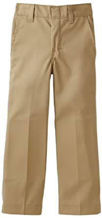 Dickies Little Boys' Flat Front Pant - School Uniform, Khaki, 7 Slim