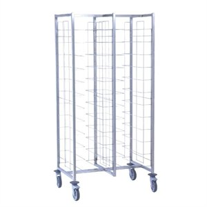 Heavy Duty Large Self Clearing Trolley 24 Levels - Commercial Kitchen School Canteen Restaurant Bakery Cafe Food Tray Clearing Trolley