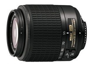 Nikon 55-200MM F4 - 5.6G AF-S DX Lens - Black