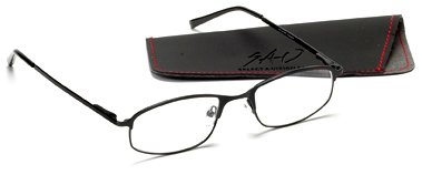 Select-A-Vision Sport Readers with Rectangular Lens, Black sport vision w15060383776