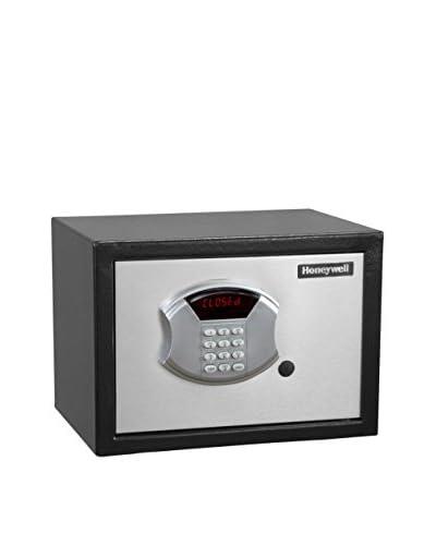 Honeywell 0.50 Cu. Ft. DOJ-Approved Steel Security Safe, Black/Chrome