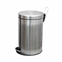 King International Perforated Pedal Dustbin - 7 Ltr (8x12)