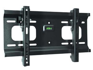 Universal Slim Tilt Adjustable Wall Mount Bracket for TV HDTV Plasma LCD LED (23 - 42 inch screen / VESA up to 400x200 / 0 - 10 degree down tilt / Up to 165lbs)