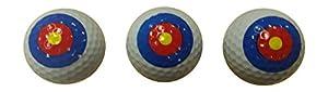 Bullseye Golf Balls (3 Pack) from BZany