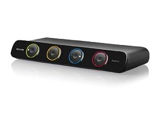 Belkin F1DS104LEA New Soho 4-Port KVM (Umschalter, USB, VGA, inkl. 1,8m Kabel)
