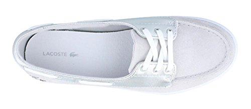 Lacoste Women's Ziane Deck 116 1 Fashion Sneaker, Silver, 6 M US