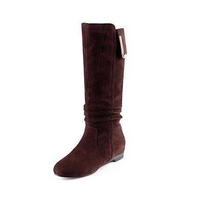 Schuhe Mode Stiefel Frauen Keilabsatz Mitte der Wade Stiefel mehr Farben erhältlich online bestellen