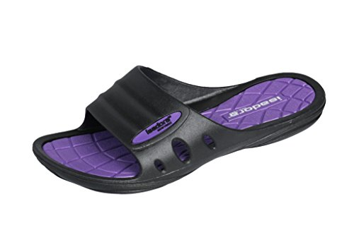 Isadora Womans New Slide Beach Sandal Slippers in Bright Fun Colors (Checkered Purple) 8