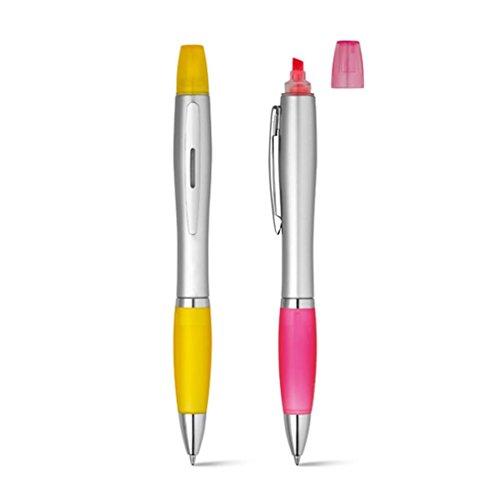 juego-de-2-boligrafo-con-resaltador-rosa-y-amarillo