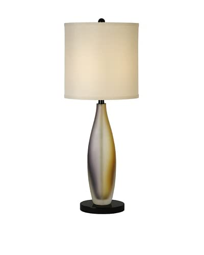 Trend Lighting Elixer Table Lamp, Cream/Plum & Gold Frosted/Ebony Lacquer
