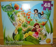 Disney Fairies Butterfly Shaped Puzzle - 48 Piece - One - 1