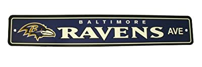 "Baltimore Ravens Street Sign Garage Home Office - ""Ravens Ave"""
