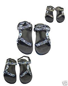 Blue Rush Mens Walking Double Velcro Strap Sandals