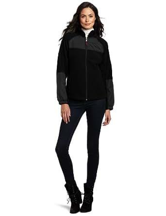 Tommy Hilfiger Women's Zip Front Fleece Jacket, Black, Medium