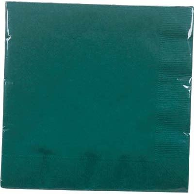 Creative Converting Hunter Green Lunch Napkins - 20 ct
