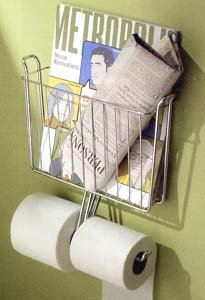 CHROME Toilet Tank MAGAZINE RACK Tissue Paper HOLDER NU