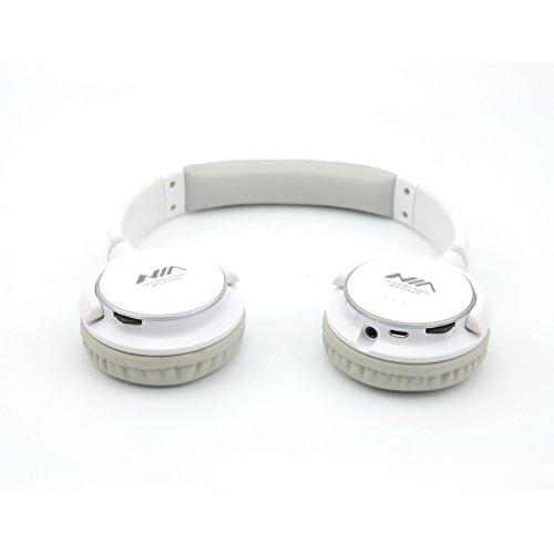 Granvela Imbson A8001 Foldable Headphone Headset New Fashion Brand Music Player Wireless Handsfree Headset Headphones Earphone,Support Tf Card Fm Radio Monitor Portable Audio Pc -White