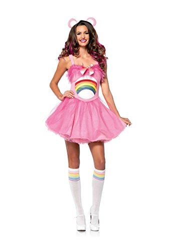 Leg Avenue Womens Care Bears Cheer Bear Costume (Med/Large) (Adult Care Bears Cheer Bear Costume)