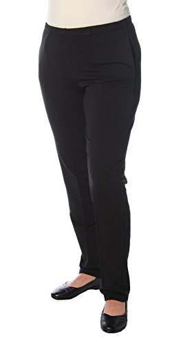 Pull on French Terry Pant in Black by Ruby Rd (M)