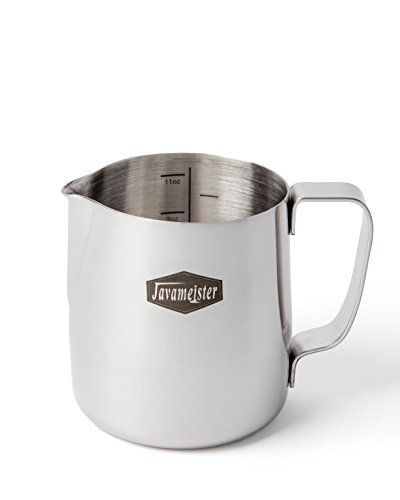 Javameister 12-ounce Stainless Steel Latte Milk Steaming and Frothing Pitcher (Frothing Pitcher Javameister compare prices)