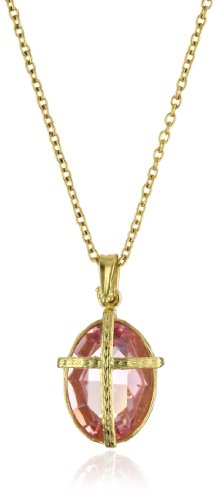 The Vatican Library Collection Kingdom Pink Cross Necklace