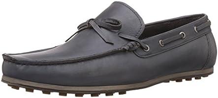 Bata Men's Dave Grey Leather Boat Shoes - 8 UK/India (42 EU) (8552126)
