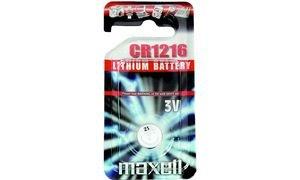 MAXELL Pile bouton au lithium, CR1216, blister de 1