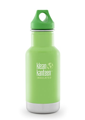 Klean Kanteen Kid's Tree Frog Vacuum Insulated Storage with Green Loop Cap, 12-Ounce (Water Bottle 12 Oz compare prices)