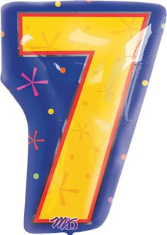 "Anagram International 1267401 Shape 7 Balloon Pack, 18"", Multicolor - 1"