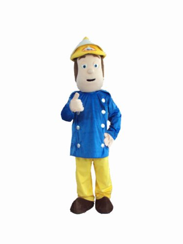 Professional Fireman Sam Mascot Costumes Fancy Dress Halloween Party Adult Size