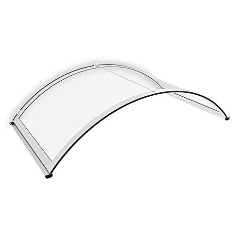 schulte vordach haust r polycarbonat aluminium 165 x 90 cm rundbogenvordach. Black Bedroom Furniture Sets. Home Design Ideas