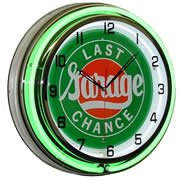 Last Chance Garage, Neon Clock, Bright Double 18 inch Neon