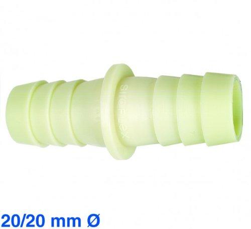 Schlauchverbinder f Ablauf..17/17mm für 19mm Schläuche